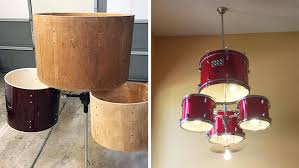 how to create an amazing chandelier from a drum set