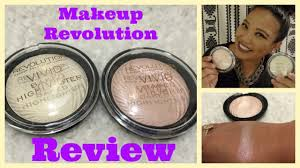makeup revolution baked highlighter review and first impressions swatches you