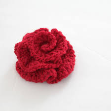 Knitted Flower Pattern Classy Ravelry Knitted Flower Pattern By Angela Juergens