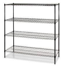 black wire shelf rack 4 shelf wire storage rack 24 w x 60