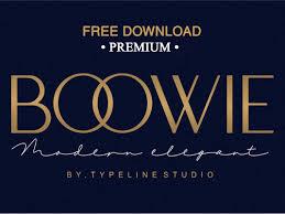 Latest Design Fonts Free Download Free Download Boowie Modern Minimalist Elegant By