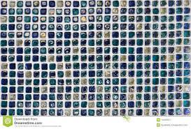 blue glass bathroom tile