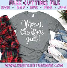 Free camera svg cut file for the silhouette cameo and cricut. Merry Christmas Y All Free Design For Cricut And Silhouette