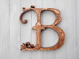 on wall art letter b with letter b wood wall art wood carving wall hanging or furniture