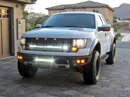 Ford Raptor Light Bar Behind Grill Rigid Industries Lower Grille Kit For Ford Raptor A1