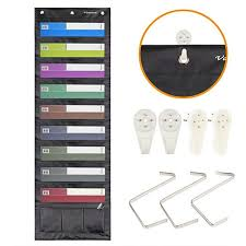 Storage Pocket Chart Hanging File Organizer Folder With 9