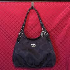 Coach Madison Maggie Op Art Silver   Black Tote