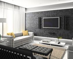 Wallpaper For Living Room Feature Wall Modern Bedroom Feature Wall Ideas Large Print Wallpaper Black With
