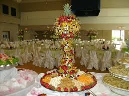 Fruit Palm Tree  Luxury Chocolate Fountain HireFresh Fruit Tree Display