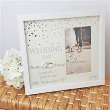 personalised wedding day frame