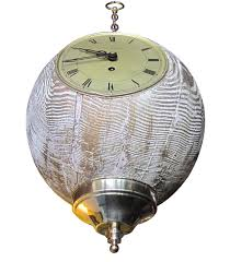 Unusual German Hanging Clock by Lester Fields Co at 1stDibs
