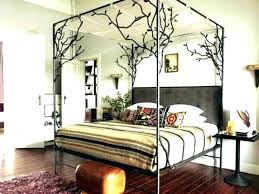 decoration: Wood Canopy Bed Frame Queen
