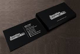 Business Business Card Design For Recruiting Outside The Box Llc By
