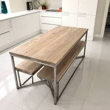 ... Dining Table, Solid Oak Stainless Steel Dining Table Photos Design:  tops stainless steel dining ...