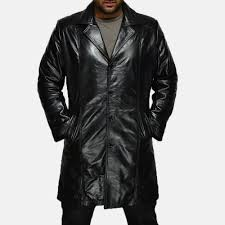mens don long black leather coat for black leather coat for men