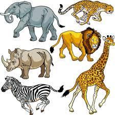 wild animals clipart. Exellent Animals Vector Set Of Wild Animals Design Graphic Intended Wild Animals Clipart All Free Download
