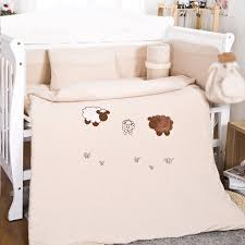 120 60cm baby bedding sets include pillow pers mattress cartoon sheep baby cot bedclothes