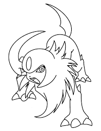 Absol Pokemon Coloring Pages
