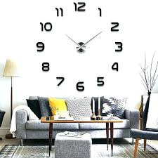 large office wall clocks. Plain Office Office Wall Clocks Amazon Large Modern Clock  Mirror Surface Sticker Home   To Large Office Wall Clocks O
