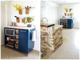 Diy Kitchen Custom Diy Rolling Kitchen Island Reality Daydream