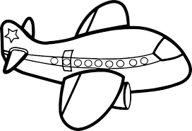 Cute Big Airplane Coloring Page Wecoloringpagecom