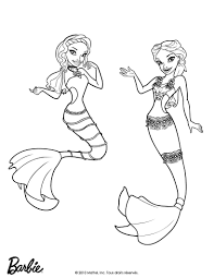 Barbie Mermaid Coloring Pages To Print Barbie Mermaid Tale