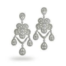 bling jewelry vintage triple tear drop classic cz chandelier earrings