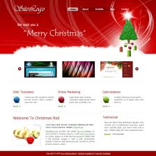 Free Christmas Website Templates Free Template 273 Christmas Red