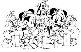 Small Picture Mickey Mouse Christmas Coloring Pages Disney Christmas Coloring