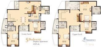 Duplex Floor Plans 2 Bedroom  Home Decorating Interior Design 4 Bedroom Duplex Floor Plans