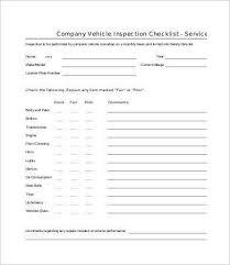 vehicle checklist template 23 word