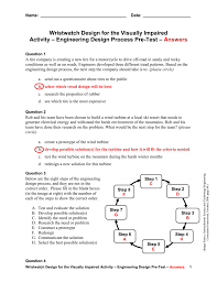 Engineering Design Process Test Answers Engineering Design Process Pre Test Answer Key