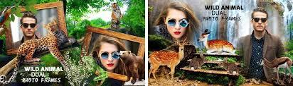 dreamapps wildanimaldual photo frames wildlife couple