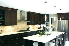 dark cabinets light countertops dark kitchen cabinets with