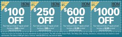 hom furniture coupon
