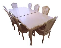 1990s Vintage Stanley Furniture Shabby Chic White Washed Dining