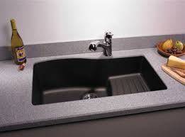 large kitchen sink. Swanstone QUAD-3322-077 Granite Large Undermount Ascend Single Bowl Kitchen Sink - Nero K