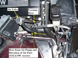 need help vacuum hose location on 97 bmw 528i bimmerfest the vacuum hose receives vacuum from the metal tube which is connected to the electric air valve the electric air valve receives its vacuum from the intake