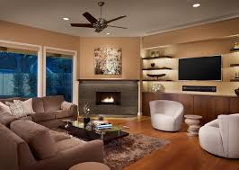 contemporary living room with corner fireplace. Contemporary Living Room With Corner Fireplace New On Perfect Furniture Placement Around Built In Cabinetry Rectangular R