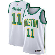 Men's Nike Kyrie Irving White Boston Celtics City Edition Swingman Jersey