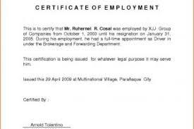 Employment Certificate Template Custom Certificate Employment Template Copy Employ Certificate Employment