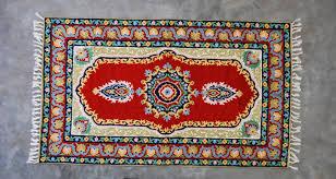 silk hand hooked rug 3 x 5