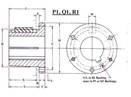 Browning Pulley Size Chart P1 Split Taper Bushing Browning Style Red Boar Chain