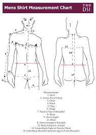 Mens Shirt Measurement Chart Mens Sewing Patterns Mens