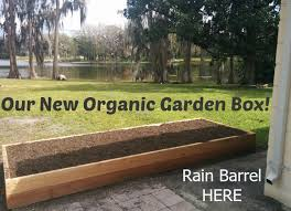 new organic patio garden box