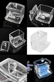 [Visit to Buy] New Clear Acrylic Cotton Swab Q-tip Storage Holder Box