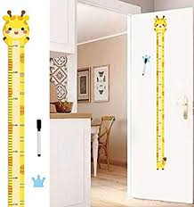 Bady Size Chart Cute Cartoon Decals Poster Removable