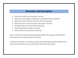 Newest Bartender Resume Examples Bartender Resume Template