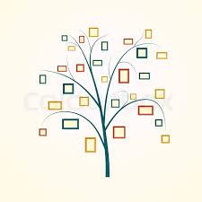 Tree Design Family Tree Design Insert Your Photos Stock Vector Colourbox