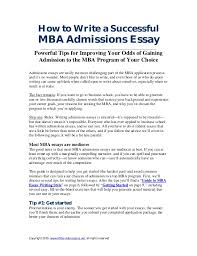 sample mba essays co sample mba essays